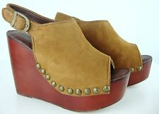 Jeffrey Campbell nietas Stud Platform sandals damas plataforma zapatos cuero gr36 nuevo