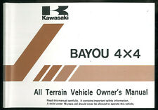 Owner's Manual KAWASAKI KLF 300 C5 BAYOU 4x4 Quad ATV Manuel d'entretien English