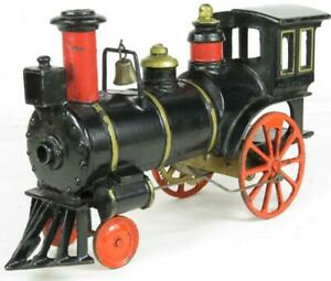 Ives antique cast iron train clockwork loco 1884 large