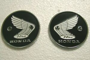HONDA WING Tank Badge for Honda 60mm Chrome Brand New Metal Emblem HT05