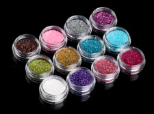 12 Colours Glitter Dust Powder Set for Nail Art Tips DIY Decoration Crafts