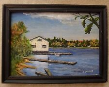 Oil Painting by Erwin R. Pearce Cottage Country Gravenhurst Ontario Ron's Place
