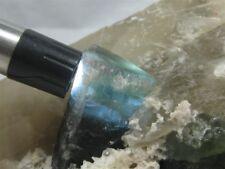 Tourmaline (Indicolite), & Quartz,  Stewart Mine, Pala Dist., San Diego Co., CA