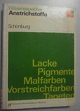 Lacke,Pigmente,Malfarben,Vorstreichfarben,Tapeten/Lehrbuch Bauwesen Maler