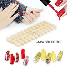120 pcs Flat Back Nail Tips For Colour Chart Display Book For UV/LED Gel Polish