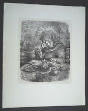 A. Paul Weber Die Morgenpost Lithographie 1973 handsigniert