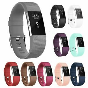 Replacement Silicone Classic Wrist Watch Band For Fitbit CHARGE 2 Strap Bracelet