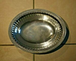 """Wilton Armetale Flutes and Pearls 12"""" x 9 3/4"""" Oval Serving Bowl"""
