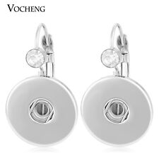 Vocheng Interchangeable for 18mm Vk-006*10 10Pcs/Lot Snap Charms Button Earring
