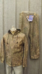 NEW Walls Water-Pruf Suplex Breathable Jacket Pants Realtree Leaf Camo sz Med