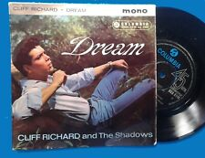 CLIFF RICHARD (Shadows),Dream,UK EP COLUMBIA Blue Black.See other Cliff items