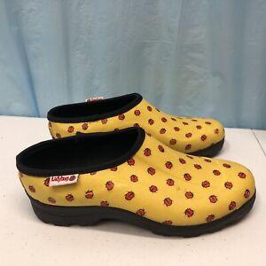 Ranger Ladybug Rain/Gardening Shoes Size 9 rubber Clogs 63998