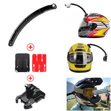 Helmet Extension Arm Kit Self Photo+Curved Adhesive Mount For Gopro Hero SJCAM