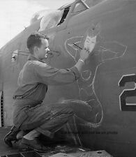 "Sgt JS Wilson painting Bomber Nose Art 8""x 10"" World War II Photo Picture #29"