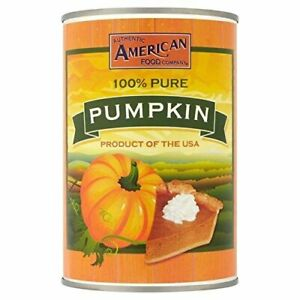 Authentic American Food Company 100% Pure Pumpkin Product of USA 425g