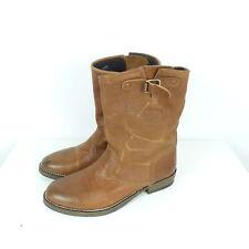 TOMMY HILFIGER DENIM Stiefelette Steifel Leder Braun Boots Gr. EUR 37 (N81)