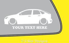 2x LOW YOUR TEXT d focus mk2 5 DOOR Stzetec TDCi outline sticker Decal 202