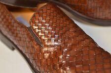 Mezlan Kauai Men Sz 9.5 M Brown Weaved SlipOn Loafers Shoes Woven Handmade Spain