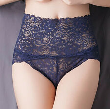 1 Or 4 Pack Ladies Lace High Waist Boxer Brief French Knickers Lingerie,UK 8-16