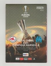 Orig.PRG   Europa League 2017/18  RED BULL SALZBURG - OLYMPIQUE MARSEILLE  !!