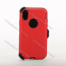 Defender iPhone Xs Max Case w/Holster Belt Clip Fit Otterbox Fire Red Black New