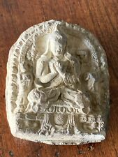 Old Terracotta Clay Seated Buddha In Bas Relief - From Southeast Asia