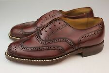 Deadstock Vintage 1950s Mens Mr Boston Wingtips Brogues Shoes Leather 6.5 Eee