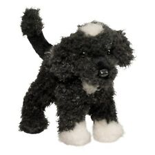 New DOUGLAS CUDDLE TOY Stuffed Plush PORTUGUESE WATER DOG Black White Puppy 8""