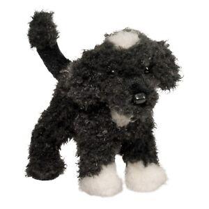 "New DOUGLAS CUDDLE TOY Stuffed Plush PORTUGUESE WATER DOG Black White Puppy 8"""