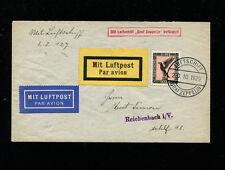 Zeppelin Sieger 48Bb 1929 Boblingen Flight Germany Bordpost