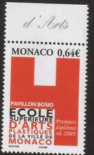 MONACO MNH 2005 The Recognition of the School for Plastic Arts, Monaco