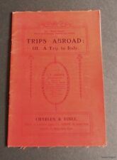 Trips Abroad:No.III-A Trip to Italy-F.H.Shoosmith-Magic Carpet Series-1912
