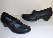 Soft Walk Black Leather Mary Jane Size 7 N NARROW Shoes Heels Pumps