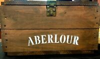 RARE Aberlour Scotch Whiskey Wooden Chest ~ Collectible ~Single Malt ~ Rare