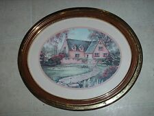"Home Interiors Cottage Decor Picture With Gold Frame -19"" X 16"""