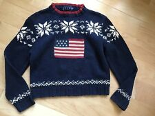 Ralph Lauren Flag And Snow Flake Sweater. Ladies Small