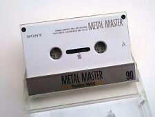 SONY Metal Master 90 Cassette Tape.