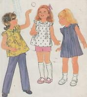 Toddler Dress, Top, Shorts and Pants Sewing Pattern Size 2 Butterick 3689 Uncut