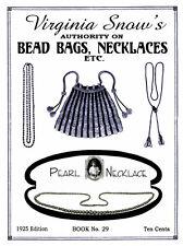 Collingbourne #29 c.1924 Knitting & Crochet Patterns for Vintage Bead Purses