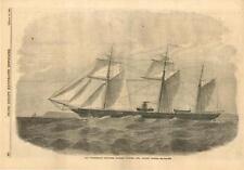 The Confederate Steamer Aabama (290) Capt. Semmes  - Civil War - Leslie's  -1863