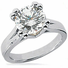 2.02 carat Round Diamond Engagement Wedding Solitaire Ring 14k White Gold H SI2
