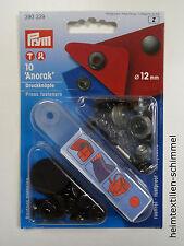 PRYM Anorak Druckknopf Druckknöpfe 12mm brüniert 390339