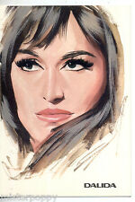 DALIDA PC 1966 Cartolina Beat Pop Star Illustratore PICCHIONI