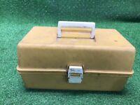 Vintage Yellow Fishing Tackle Box Adventurer Model 1299-7