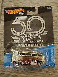 Hot Wheels Volkswagen T1 Drag Bus 50th Anniversary Favourites 6/10 BRAND NEW IN