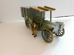 54mm WW1 plastic Lorry GS. with white metal driver. Many types introduced in WW1