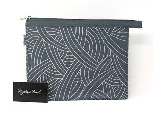 BeautyFix Gray White Make Up Bag Travel Cosmetic Beauty Case, Super Cute, Rare