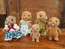 Sylvanian Families Woodbrook Beaver Family Set of 5 Figures Calico Critters
