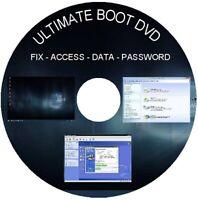 WINDOWS 10 REPAIR BOOT DVD - Password Recovery -  Virus Removal - Clone - Data