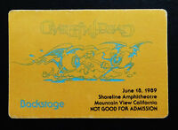 Grateful Dead Backstage Pass Shoreline CA 6/18/89 6/18/1989 Rick Griffin Art